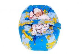Vak pre bábätko ŽIRAFA MODRÁ, 100% bavlna