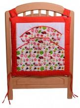 Vreckár na detskú postieľku, LIENKA ČERVENÁ, 100% bavlna