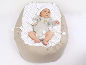 Vak pre bábätko BODKA BÉŽOVÝ, 100% bavlna