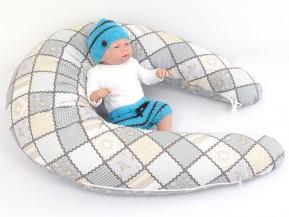 Dojčiaci vankúš MAXI Patchwork, 100% bavlna
