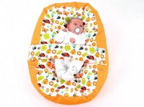Vak pre bábätko LIENKA ORANŽOVÁ, 100% bavlna