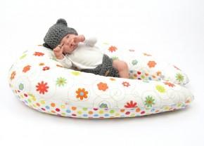 Dojčiaci vankúš MAXI LÚKA ORANŽOVÁ, 100% bavlna