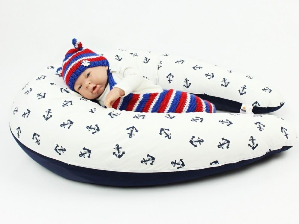 Dojčiaci vankúš MAXI KOTVY, 100% bavlna