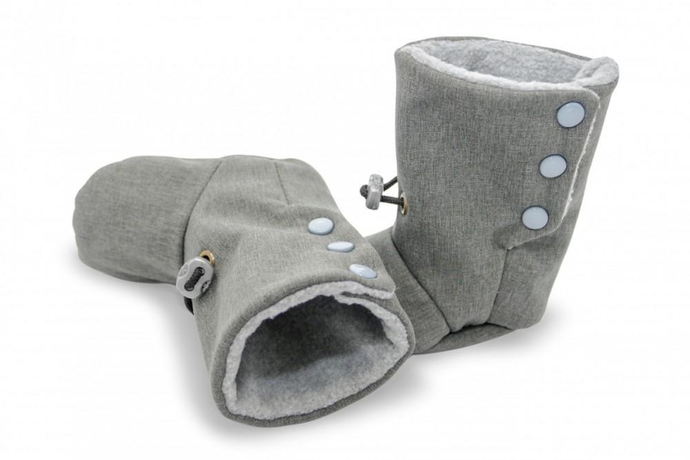 Topánečky šedé vel: 11 cm č.1