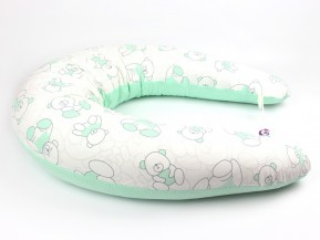 Dojčiaci vankúš Standard MACKO ZELENÝ, 100% bavlna