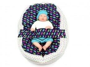 Vak pre bábätko, 100% bavlna, CHAMELEON Modrý
