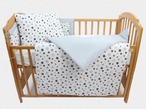 Obliečky do detskej postieľky, STARS 100% bavlna